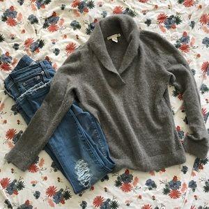 Super soft shawl neck sweater